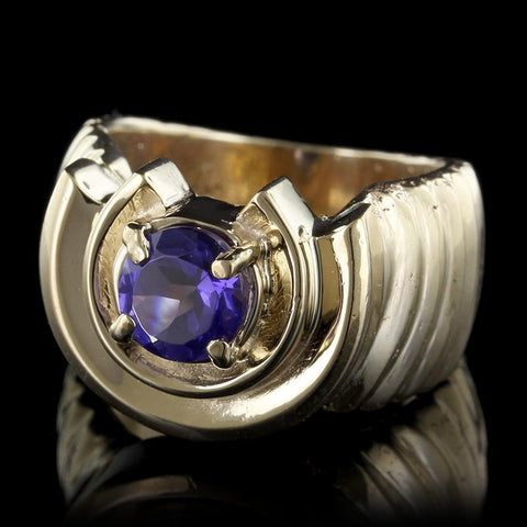 14K Yellow Gold Estate Tanzanite Ring