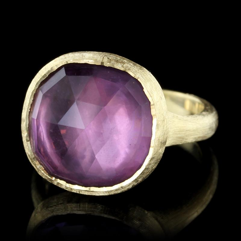 Marco Bicego 18K Yellow Gold Amethyst Jaipur Ring
