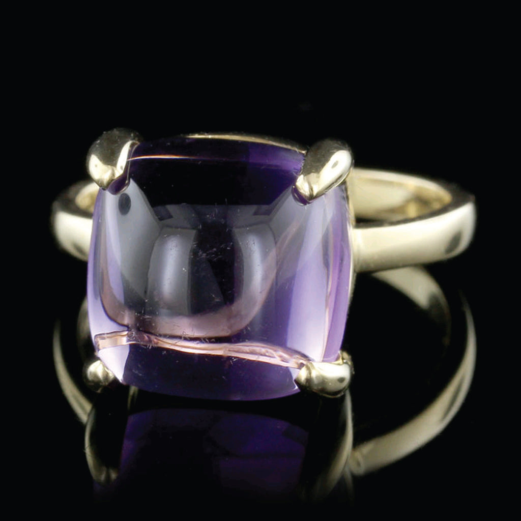 eb3312f05 30 Day Money Back Guarantee. Tiffany & Co. Paloma Picasso 18K Yellow Gold  Amethyst Sugar Stacks Ring
