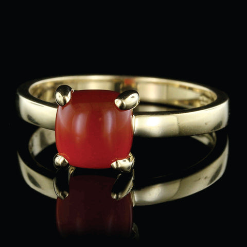 Tiffany & Co. Paloma Picasso 18K Yellow Gold Carnelian Sugar Stacks Ring