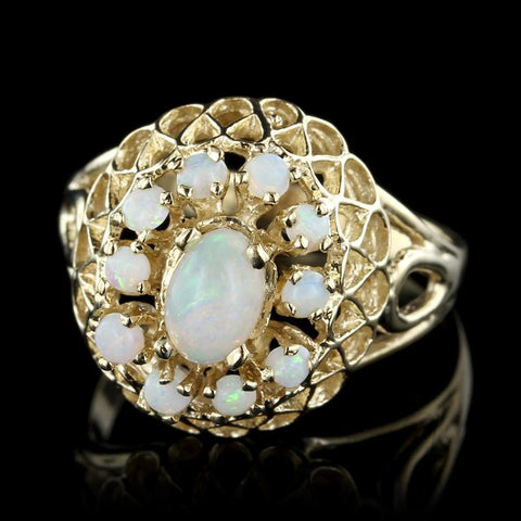 14K Yellow Gold Estate Opal Ring