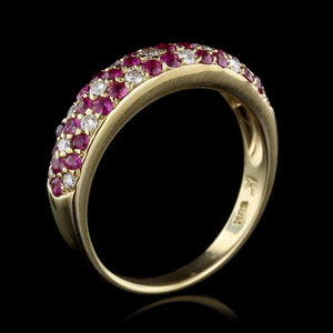 Le Vian 18K Yellow Gold Ruby and Diamond Flower Ring