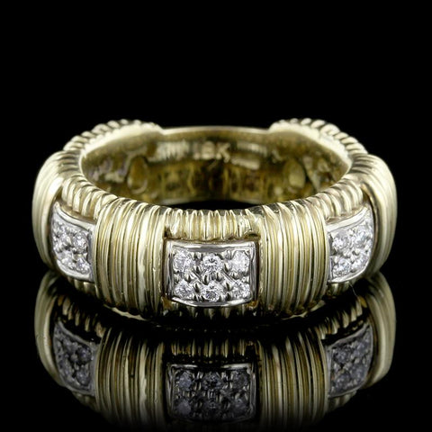 Roberto Coin 18K Yellow Gold Diamond Appasionata Ring