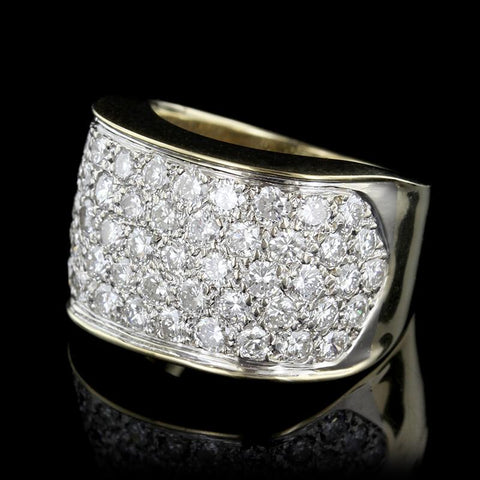 18K Two-Tone Gold Pave Diamond Ring