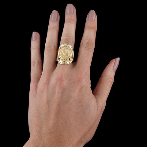 14K Yellow Gold Nefertiti Ring