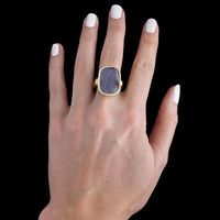 14K Yellow Gold Venetian Glass Ring