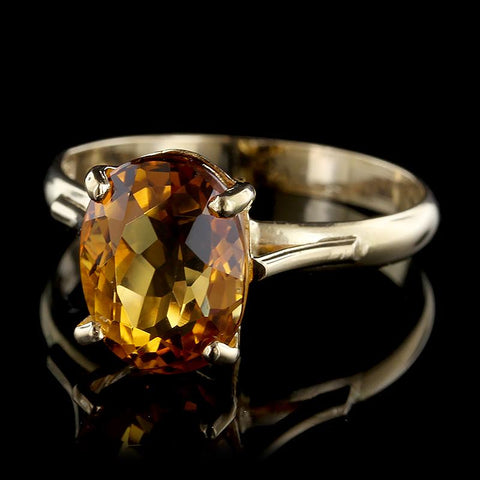 18K Yellow Gold Citrine Ring
