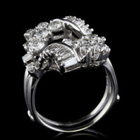 14K White Gold Estate Diamond Insert Ring