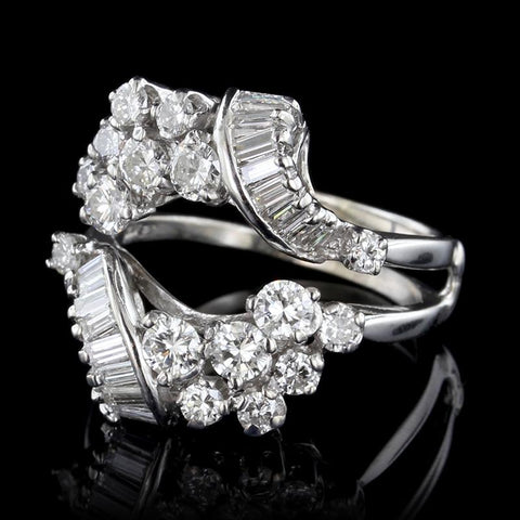 14K White Gold Diamond Insert Ring