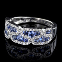 Le Vian 14K White Gold Sapphire and Diamond Ring