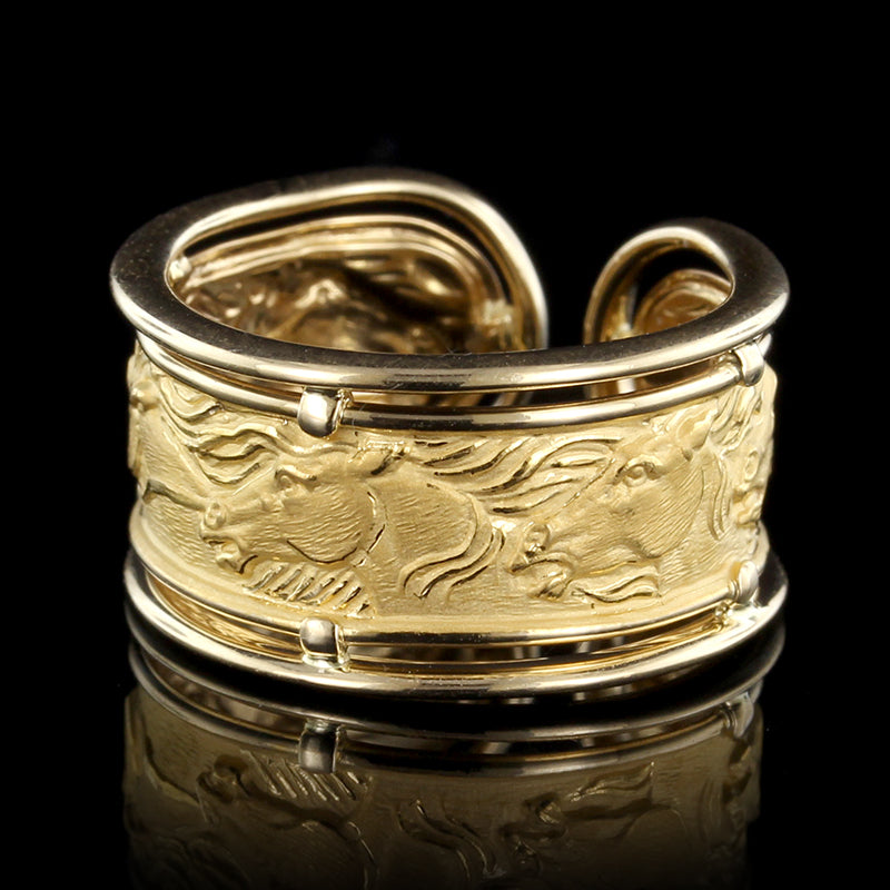 Carrera y Carrera 18K Yellow Gold Horse Ring