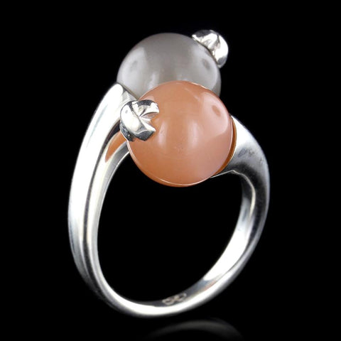 Links Of London Sterling Silver Moonstone Bead Ring