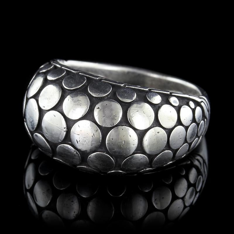John Hardy Sterling Silver Estate Dot Dome Ring