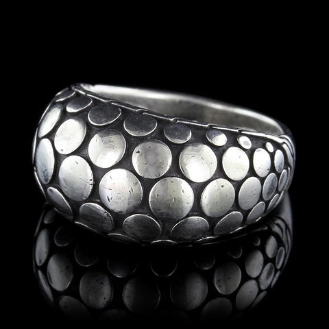 John Hardy Sterling Silver Dot Dome Ring