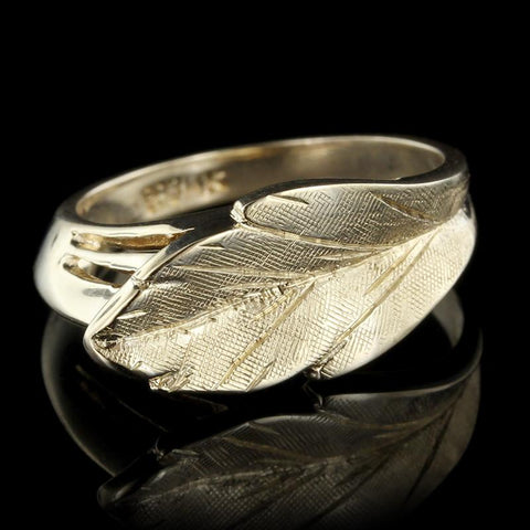 14K Yellow Gold Leaf Ring