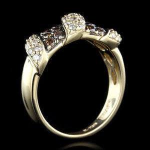 Le Vian 14K Yellow Gold Estate Chocolate Diamond and Diamond Ring