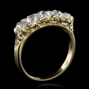 Antique 18K Yellow Gold Diamond Ring