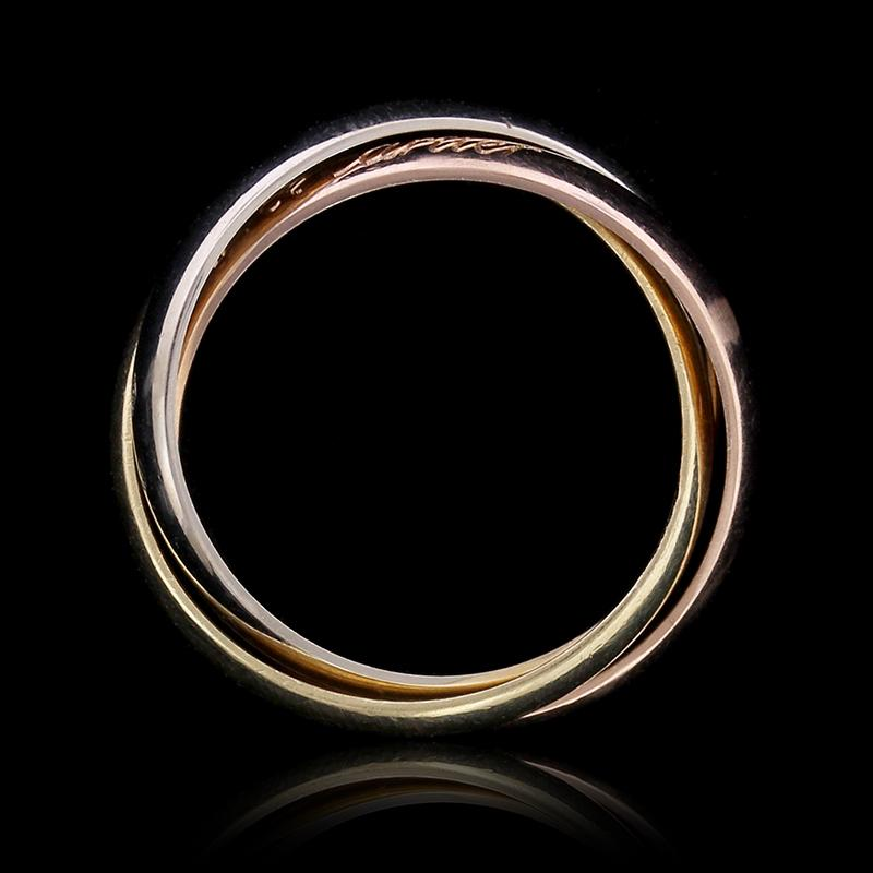 Cartier 18K Tricolor Gold Le Must Trinity Rolling Ring