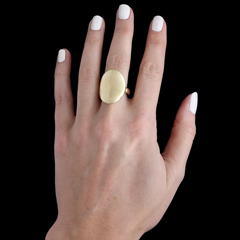 14K Yellow Gold Saddle Ring