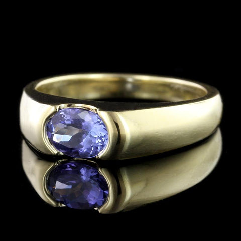18K Yellow Gold Tanzanite Ring