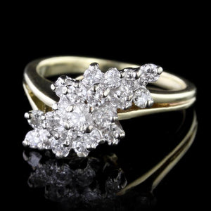 14K Two-Tone Gold Estate Diamond Ring