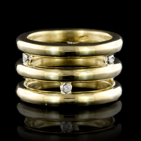 Antonini 18K Yellow Gold Diamond Ring