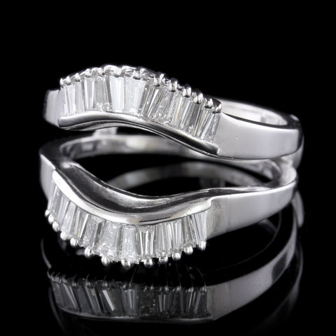 14K White Gold Diamond Wrap Wring
