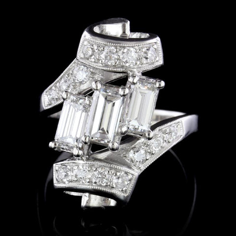 Platinum Estate Diamond Ring