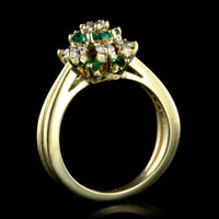 Kurt Wayne 18K Yellow Gold Emerald and Diamond Ring