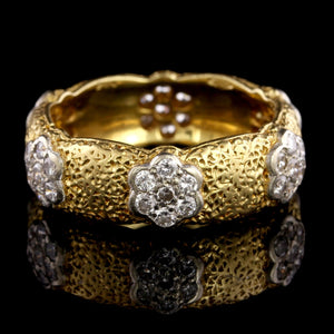 Buccellati 18K Yellow Gold Estate Diamond Band Ring
