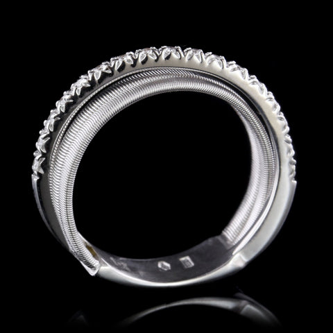Marco Bicego 18K White Gold Diamond Crossover Ring