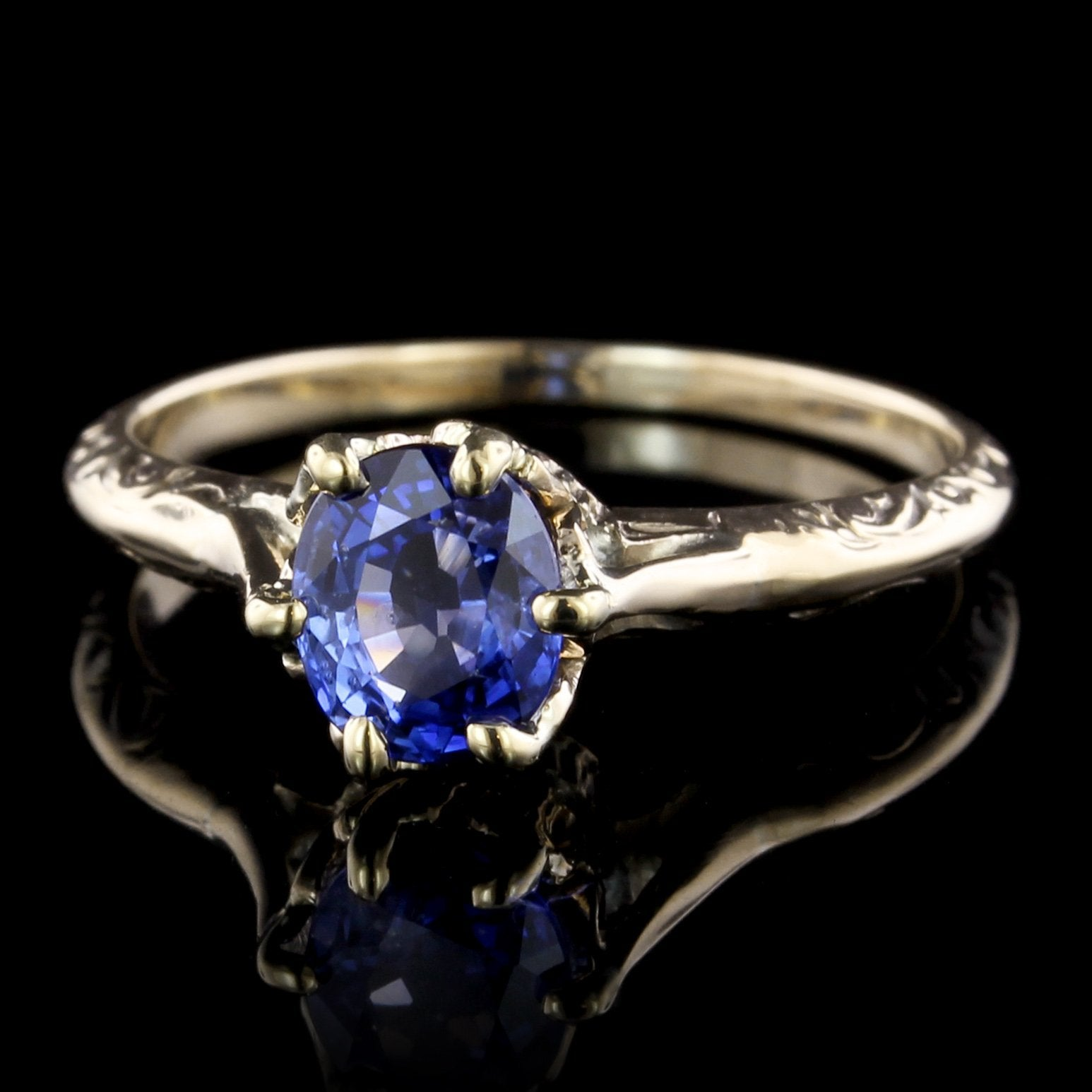 14K Yellow Gold Estate Sapphire Ring