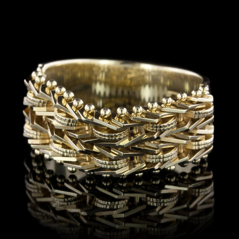 14K Yellow Gold Flexible Ring