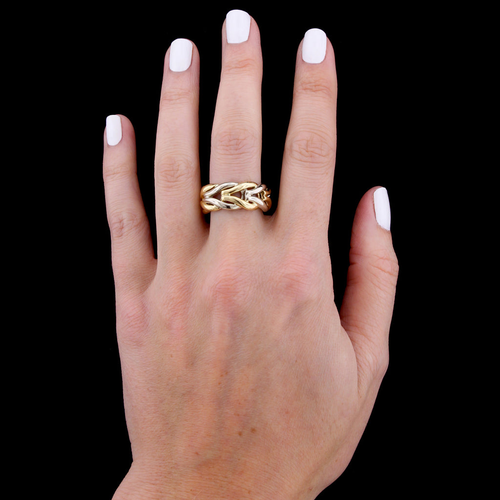 14K Two-tone Gold Band