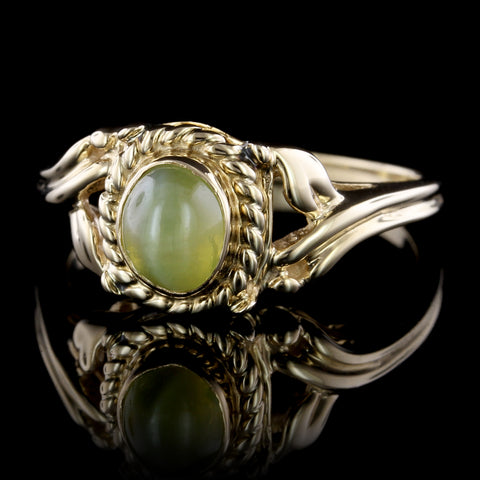 14K Yellow Gold Cat's Eye Chrysoberyl Ring