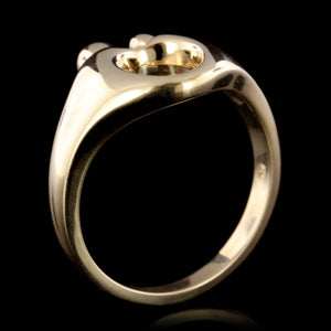 14K Yellow Gold Estate Mother and Child Ring