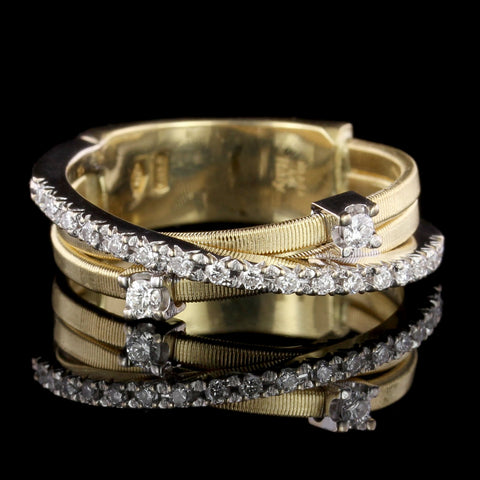 Marco Bicego 18K Two-tone Gold Diamond Goa Ring