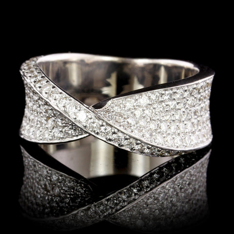 Casa Gi 18K White Gold Estate Diamond Ring