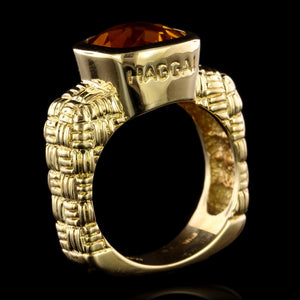 Haggai 18K Yellow Gold Estate Citrine Ring