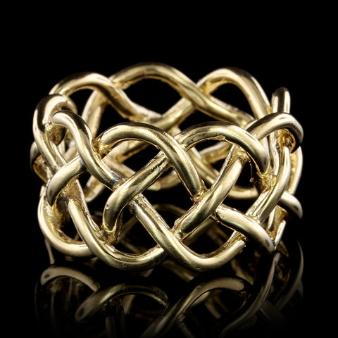 18K Yellow Gold Estate Braided Band