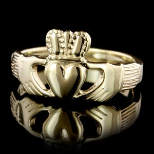 14K Yellow Gold Estate Claddagh Ring