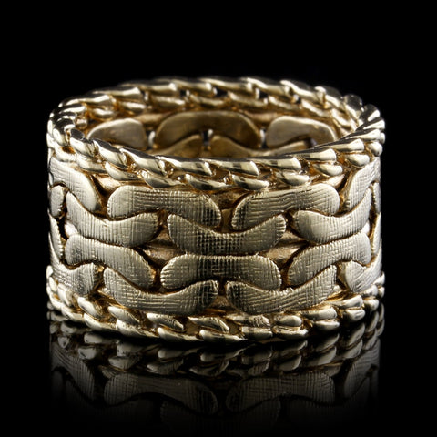14K Yellow Gold Estate Braided Band