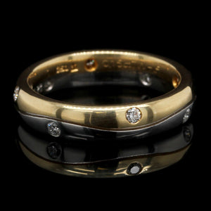Platinum and 18K Yellow Gold Estate Diamond Band