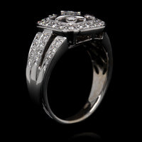 18K White Gold Estate Diamond Ring