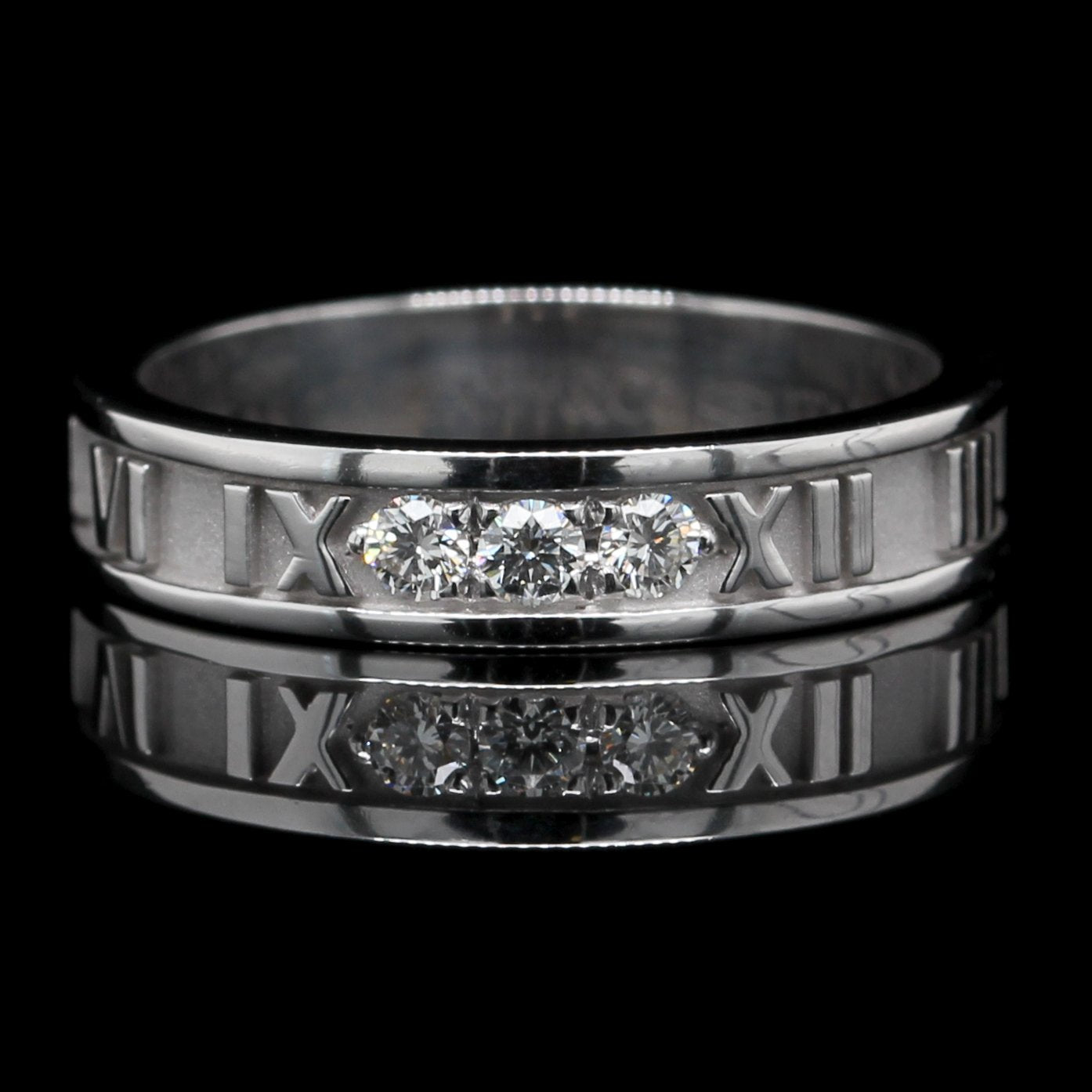 Tiffany & Co. 18K White Gold Estate Atlas Ring