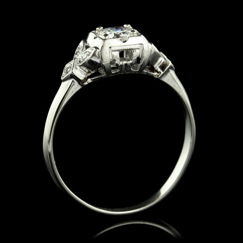Vintage Platinum Diamond Solitaire Engagement Ring