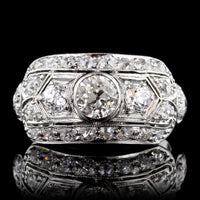 Edwardian Platinum Diamond Ring
