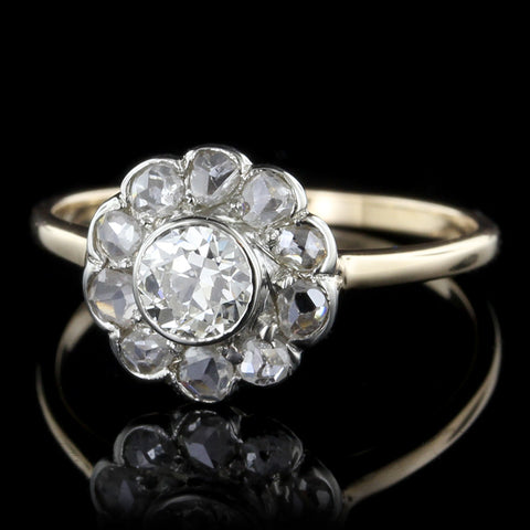 Vintage 14K Two-tone Diamond Ring