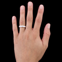 Platinum Channel-Set Diamond Band