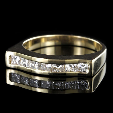 14K Yellow Gold Channel Set Diamond Band